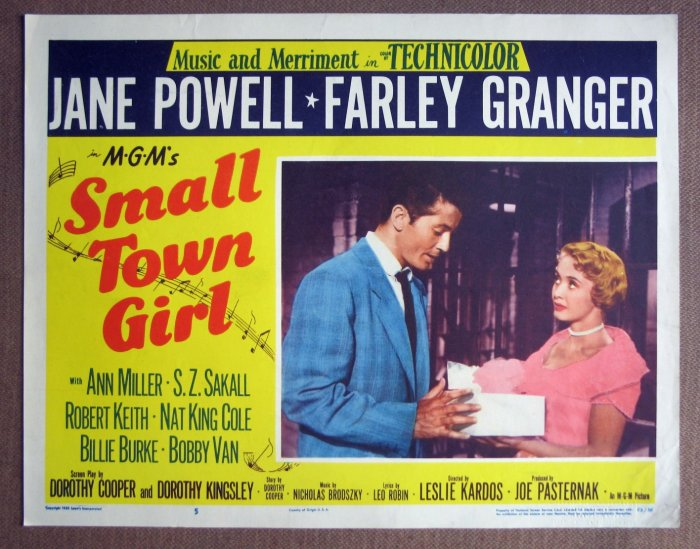 CR44 Small Town Girl JANE POWELL & FARLEY GRANGER  Lobby Card