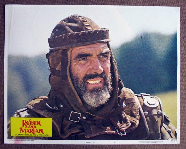 CK28 Robin & Marian SEAN CONNERY 1976 Portrait Lobby Card