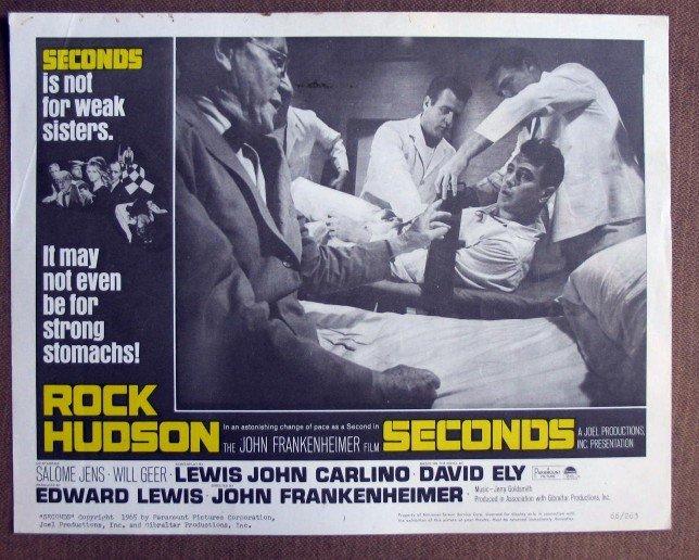 CK32 Seconds ROCK HUDSON   Original 1966 Lobby Card