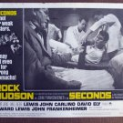 CK32 Seconds ROCK HUDSON   Original 1966 Lobby Card