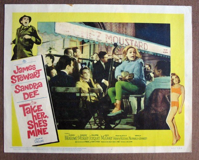 CK39 Take Her, She's Mine SANDRA DEE & JAMES STEWART Lobby Card