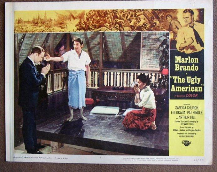 CM50 Ugly American MARLON BRANDO  Original 1963 Lobby Card