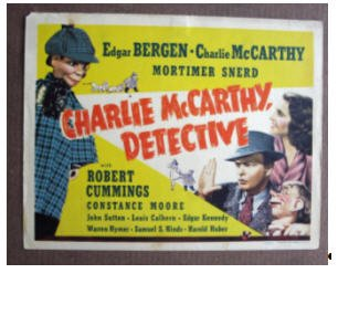 CA11 Charlie McCarthy Detective BERGEN TERRIFIC 1939 TC