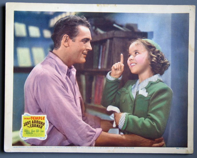 BB48 Just Around the Corner SHIRLEY TEMPLE ORIGINAL  1938 Lobby Card
