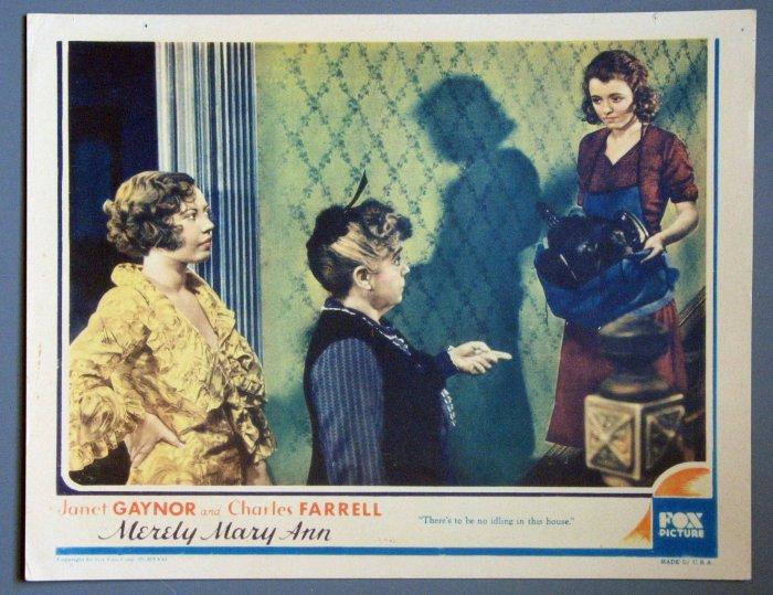 BE37 Merely Mary Ann JANET GAYNOR ORIGINAL 1931 Lobby Card