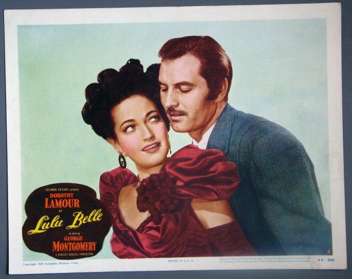 BC28 Lulu Belle DOROTHY LAMOUR ORIGINAL 1948 PORTRAIT LOBBY CARD