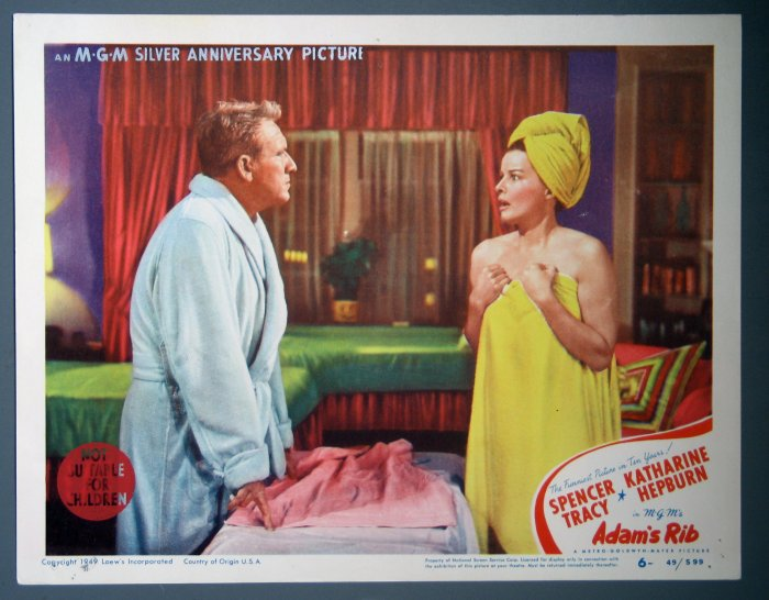 BI21 Adam's Rib KATHARINE HEPBURN and SPENCER TRACY 1949 Portrait Lobby Card #7