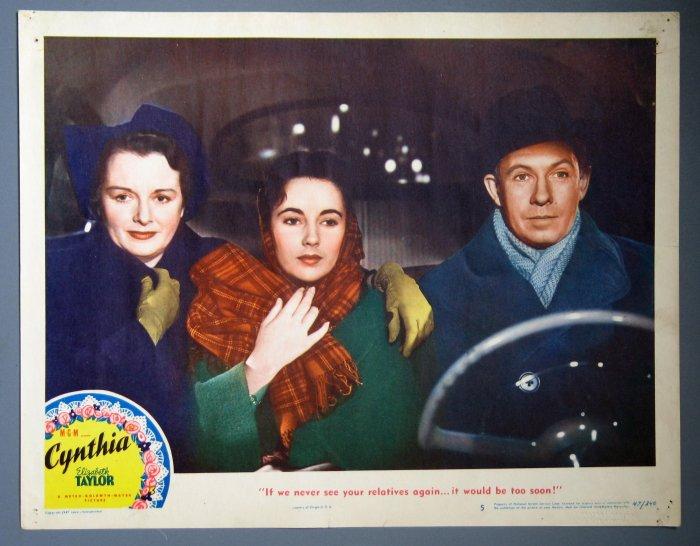 BI32 Cynthia ELIZABETH TAYLOR ORIGINAL 1947 Lobby Card
