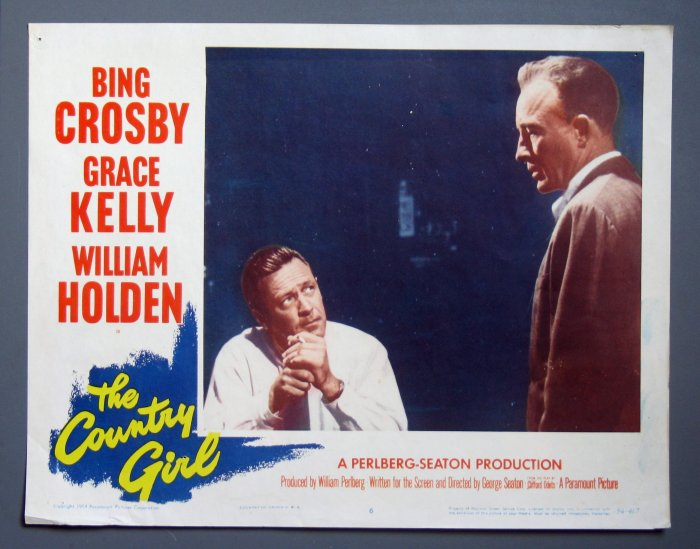 BF21 Country Girl BING CROSBY and WILLIAM HOLDEN 1954 Lobby Card