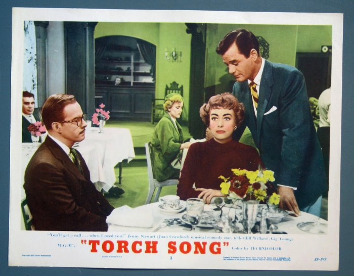 BG51 Torch Song JOAN CRAWFORD and ROBERT YOUNG Original 1953 Lobby Card