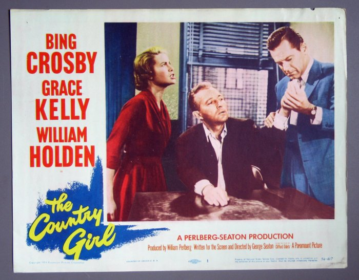 BH24 Country Girl GRACE KELLY and BING CROSBY 1954 Lobby Card