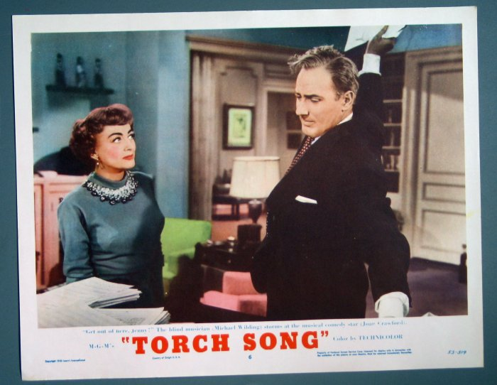 BH47 Torch Song JOAN CRAWFORD ORIGINAL 1953 Lobby Card