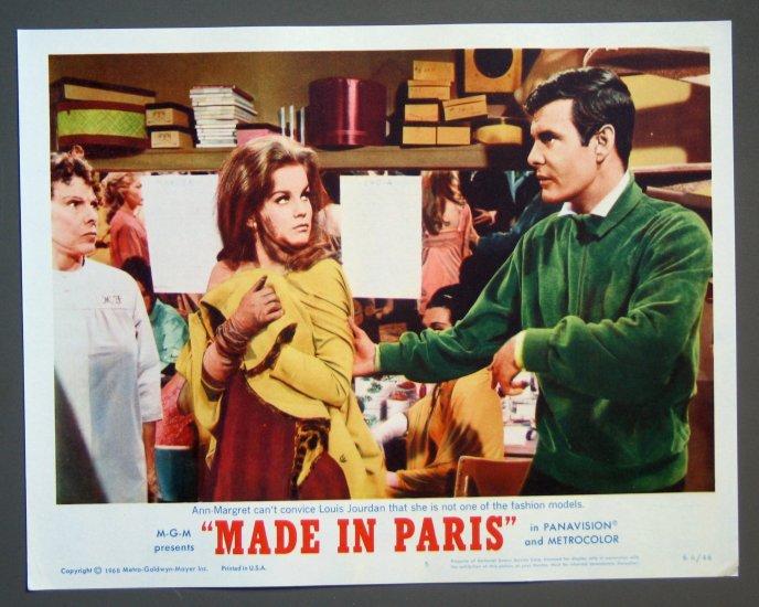 BG40 Made In Paris ANN-MARGARET and LOUIS JOURDAN 1966 Lobby Card