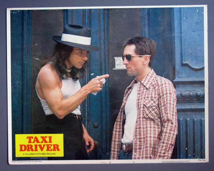 BJ41 Taxi Driver ROBERT DeNIRO and HARVEY KEITEL Lobby Card