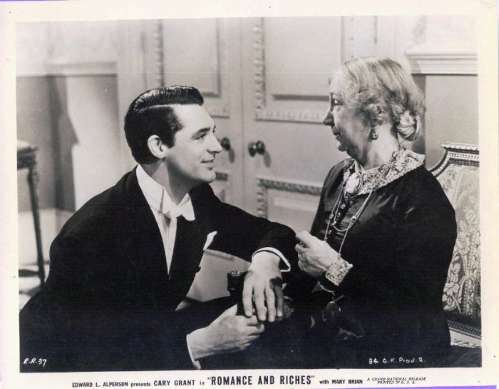 BE16 Romance & Riches CARY GRANT ORIGINAL 1937 Studio Still