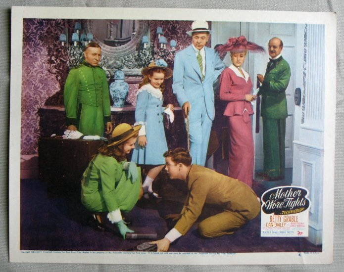 BK23 Mother Wore Tights BETTY GRABLE Original 1947 Lobby Card