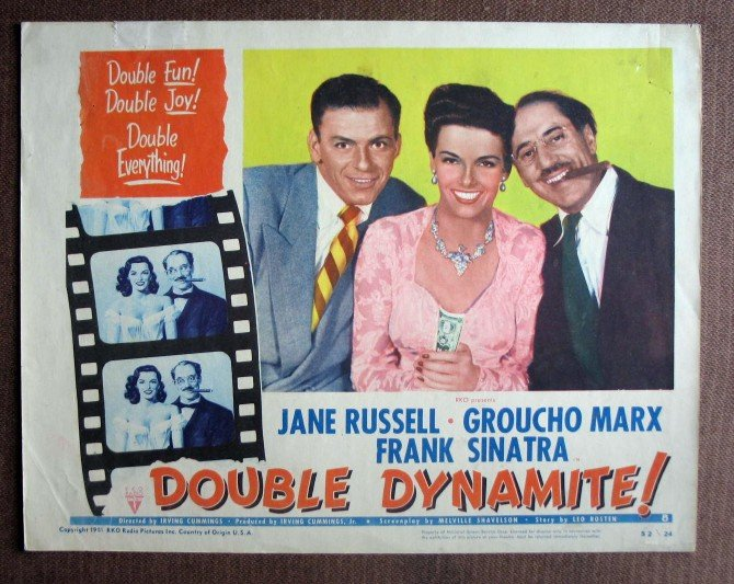 BL14 Double Dynamite GROUCHO MARX and FRANK SINATRA 1952 Lobby Card