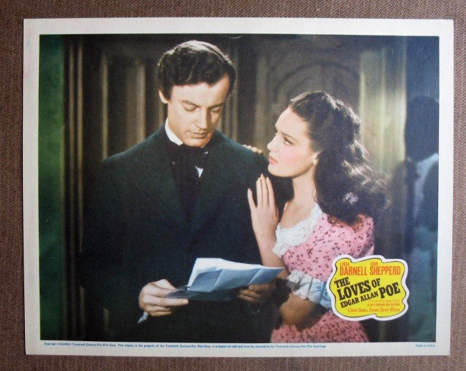BL25 Loves Of Edgar Allan Poe LINDA DARNELL Lobby Card