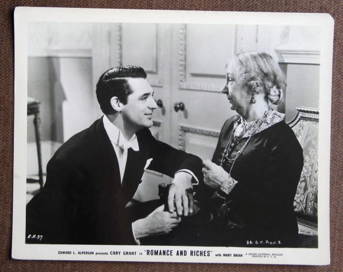 BM05 Romance & Riches CARY GRANT Original 1937 Studio Still