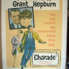BM07 Charade CARY GRANT and AUDREY HEPBURN 1963 ONE SHEET LINEN-BACKED