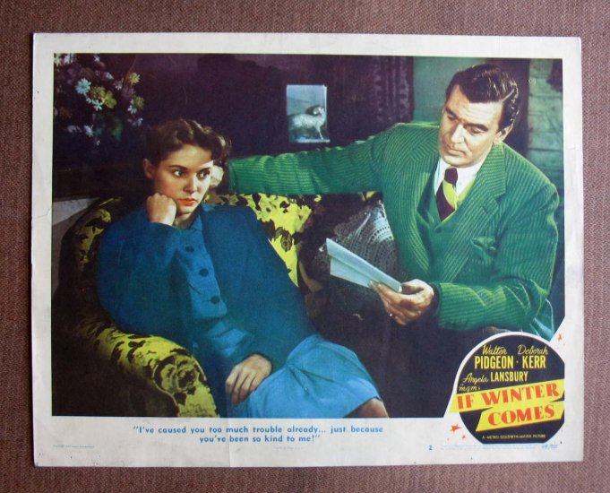 BN36 If Winter Comes DEBORAH KERR and WALTER PIDGEON Lobby Card