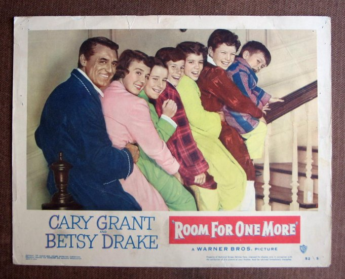 BN53 Room For One More CARY GRANT and BETSY DRAKE 1952 Lobby Card