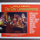 BN65 Ten Commandments CHARLTON HESTON 1960R Lobby Card