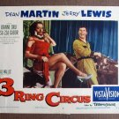 BN70 3 RING CIRCUS Jerry Lewis and Elsa Lanchester Lobby Card