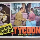 BN73 Tycoon JOHN WAYNE and LARAINE DAY 1947 Lobby Card