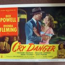 BO18 Cry Danger DICK POWELL and RHONDA FLEMING Lobby Card