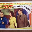 BO21 Ellery Queen Perfect Crime RALPH BELLAMY 1941 Lobby Card