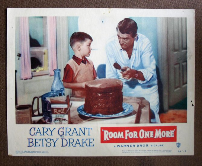 BP43 Room For One More CARY GRANT Original 1952 Lobby Card
