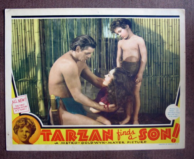 BP46 Tarzan Finds A Son JOHNNY WEISSMULLER 1939 Lobby Card