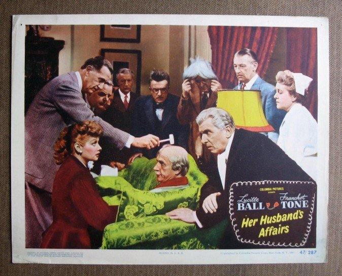 BQ28 Her Husband's Affairs LUCILLE BALL 1947 Lobby Card