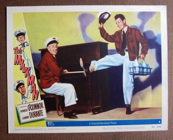 BQ36 Milkman JIMMY DURANTE and DONALD O'CONNOR Lobby Card