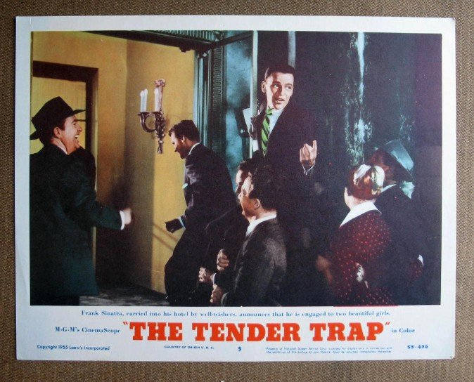 BQ47 Tender Trap FRANK SINATRA and DEBBIE REYNOLDS 1955 Lobby Card