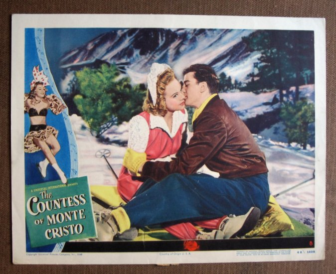 BR20 Countess Of Monte Cristo SONJA HENIE 1948 Lobby Card