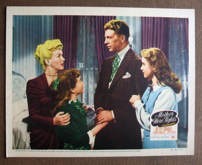 BR36 Mother Wore Tights BETTY GRABLE Original 1947 Lobby Card