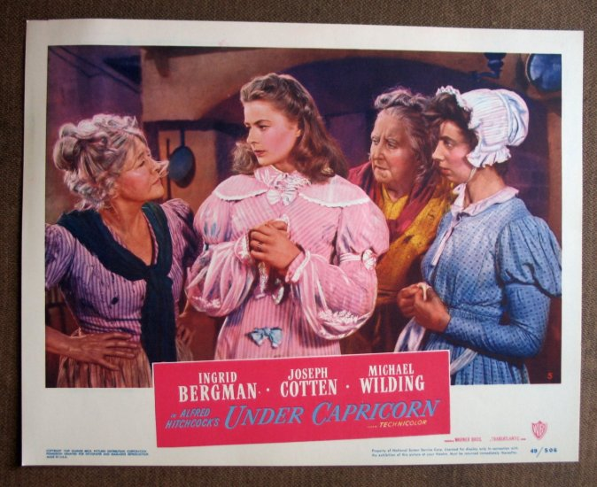 BR46 Under Capricorn INGRD BERGMAN Original HITCHCOCK Lobby Card