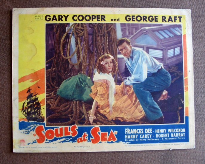 BS47 Souls At Sea GARY COOPER and FRANCES DEE 1937 Lobby Card