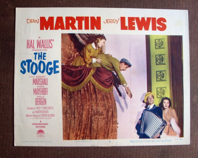 BS48 Stooge DEAN MARTIN and JERRY LEWIS 1952 Lobby Card