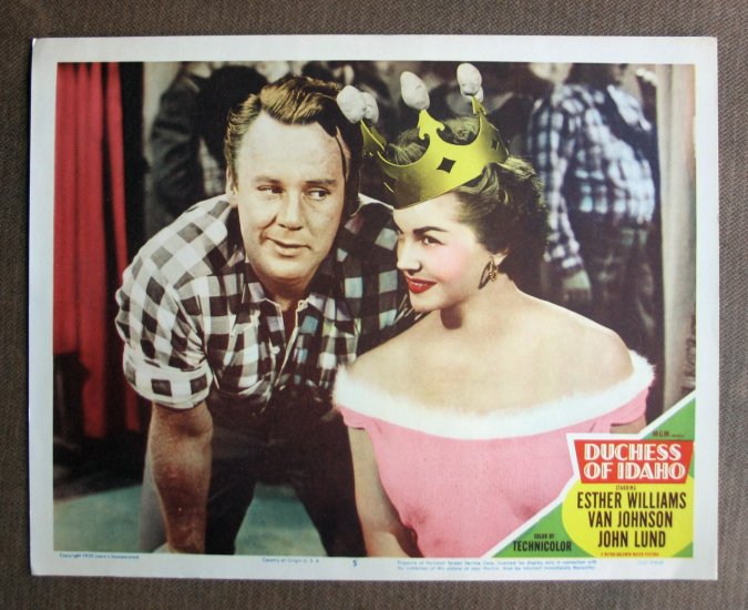 BT22 Duchess of Idaho ESTHER WILLIAMS Original 1950 Lobby Card