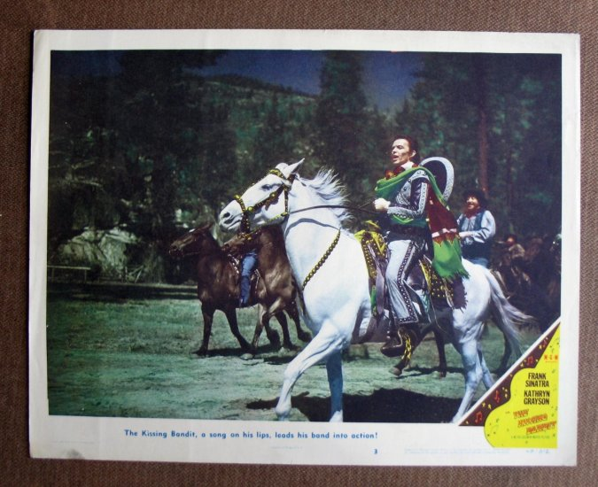 BT27 Kissing Bandit FRANK SINATRA Original 1948 Lobby Card