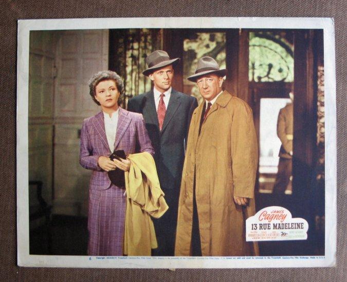 BT46 13 Rue Madeleine ANNABELLA and MELVILLE COOPER 1946 Lobby Card