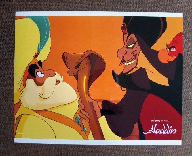 BU11 Aladdin Original 1992 WALT DISNEY Lobby Card