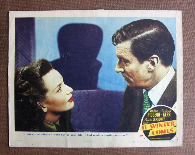BU25 If Winter Comes DEBORAH KERR and WALTER PIDGEON Lobby Card
