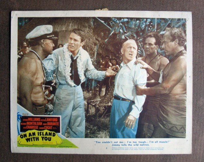 BU36 On An Island JIMMY DURANTE and PETER LAWFORD Lobby Card