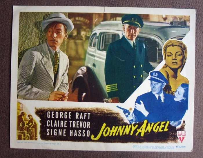 BV22 Johnny Angel GEORGE RAFT Film Noir 1945 Lobby Card