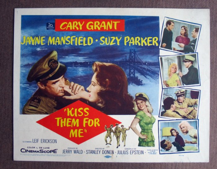 BV23 Kiss Them For Me CARY GRANT 1957 TITLE Lobby Card