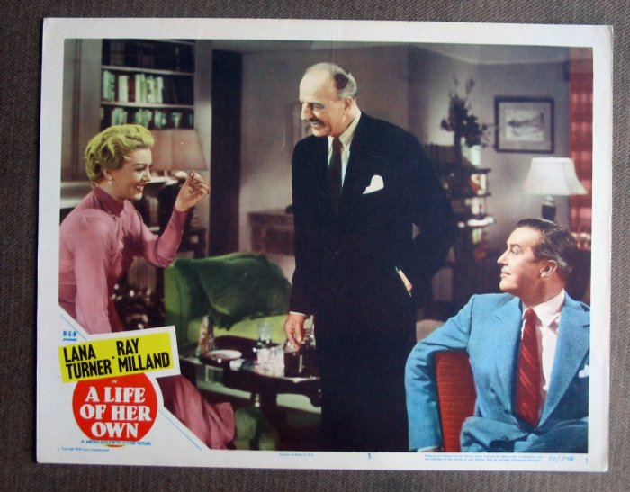 BV28 Life Of Her Own LANA TURNER and MILLAND 1950 Lobby Card
